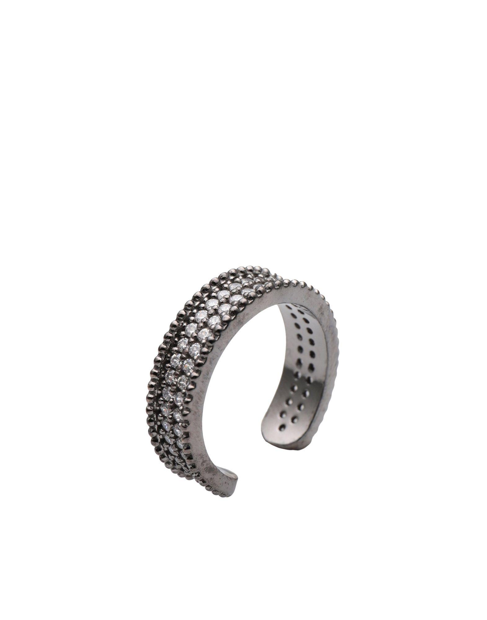 《セール開催中》FIRST PEOPLE FIRST レディース 指輪 鉛色 7 シルバー925/1000 / 18金メッキ / キュービックジルコニア Concordia Zircon Double Allover Ring