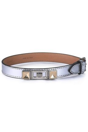 PROENZA SCHOULER Metallic leather, silver and gold-tone bracelet