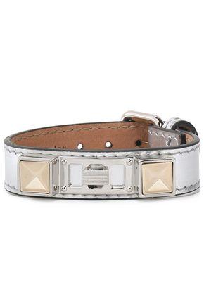 PROENZA SCHOULER Metallic leather, silver and gold-tone bracelet