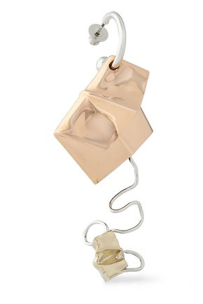 PROENZA SCHOULER Silver, rose gold and gold-tone earring