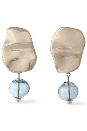 PROENZA SCHOULER Gold-tone bead clip earrings