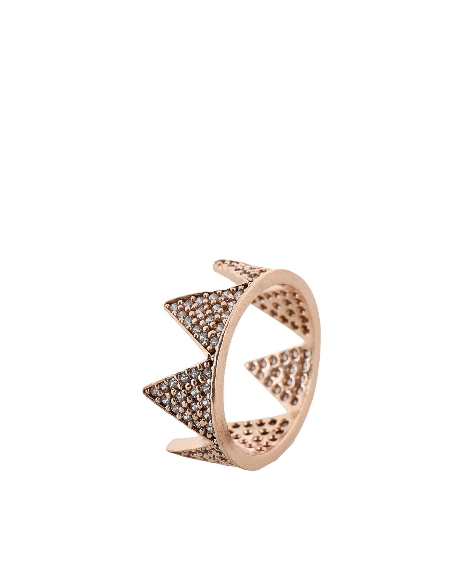 《セール開催中》FIRST PEOPLE FIRST レディース 指輪 カッパー 7 シルバー925/1000 / 18金メッキ / キュービックジルコニア Hestia Full Zircon Crown Ring