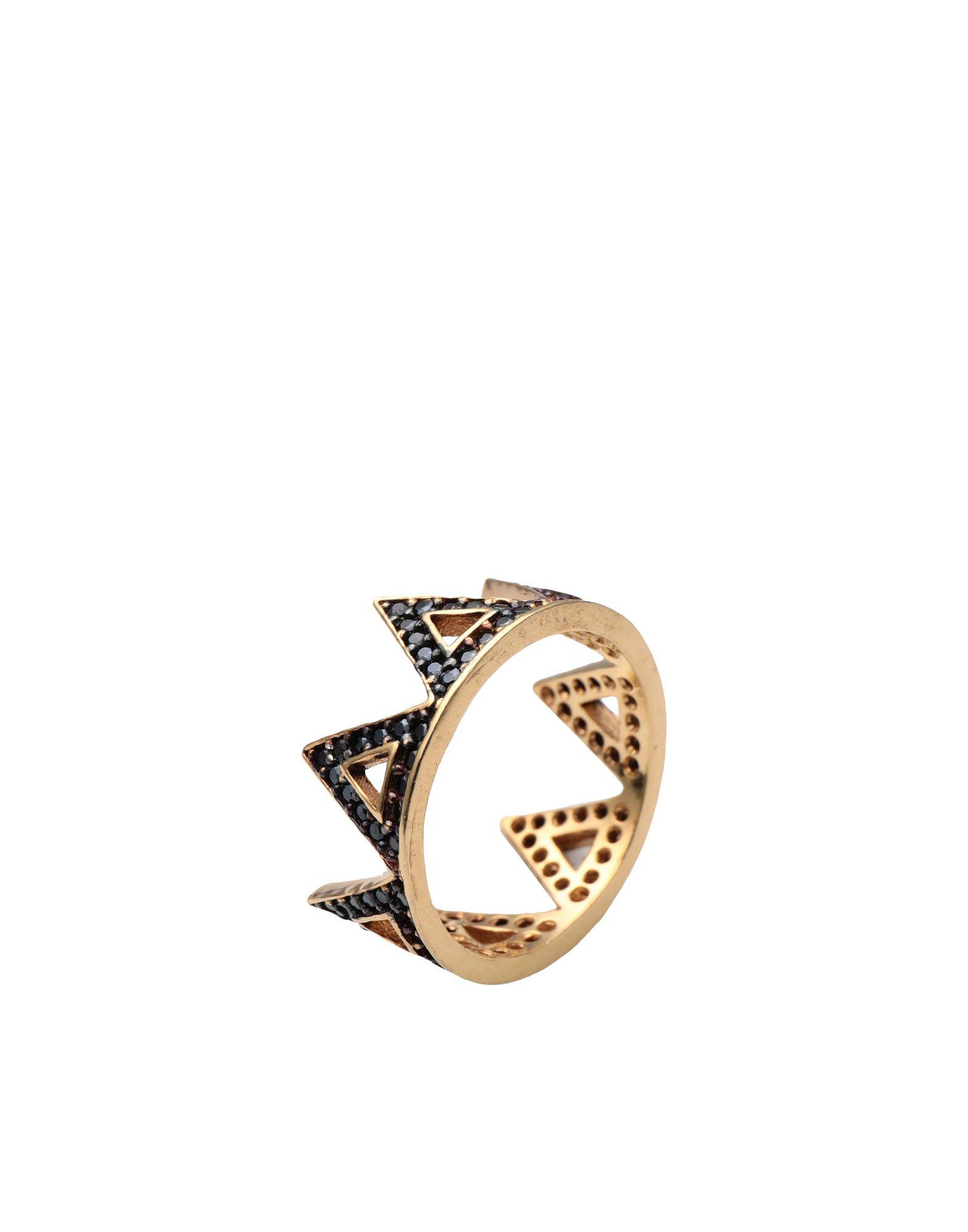《セール開催中》FIRST PEOPLE FIRST レディース 指輪 ゴールド 7 シルバー925/1000 / 18金メッキ / キュービックジルコニア Hestia Zircon Crown Ring