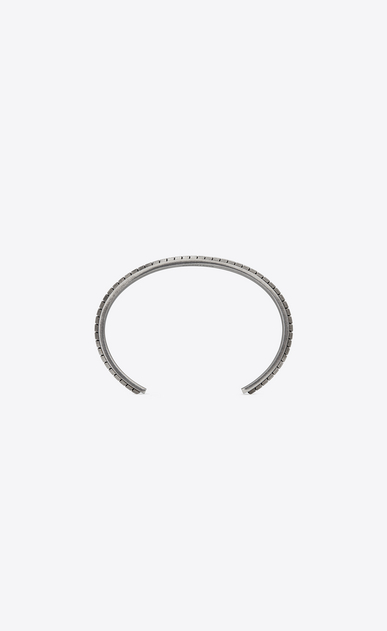 SAINT LAURENT Bracelets Man FOLK cuff in oxidized silver-tone metal b_V4