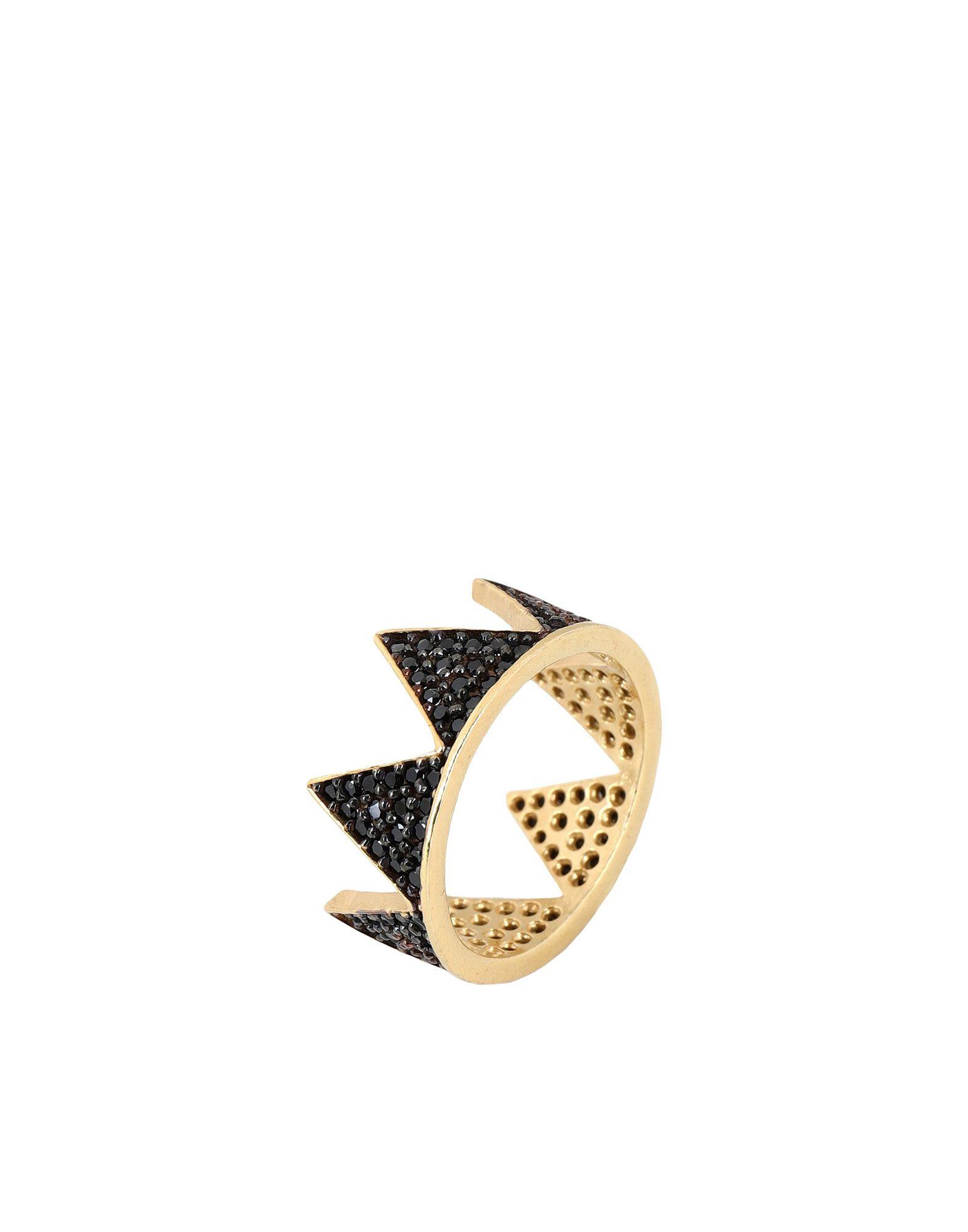 《セール開催中》FIRST PEOPLE FIRST レディース 指輪 ゴールド 7 シルバー925/1000 / 18金メッキ / キュービックジルコニア Hestia Full Zircon Crown Ring