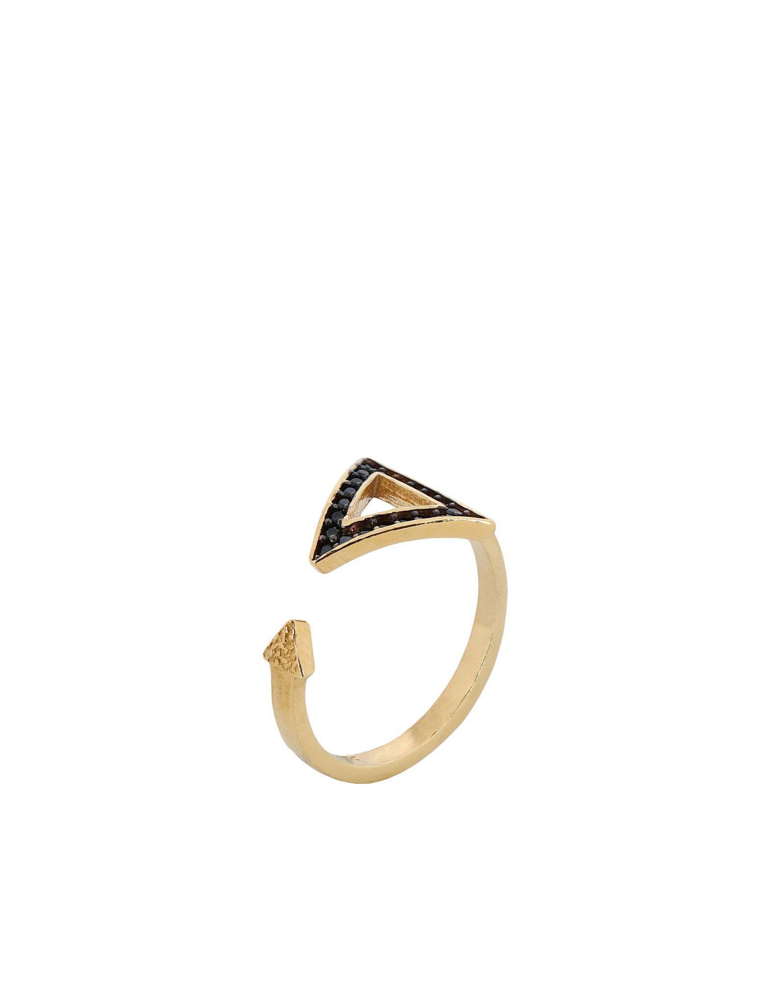 《セール開催中》FIRST PEOPLE FIRST レディース 指輪 ゴールド one size シルバー925/1000 / 18金メッキ / キュービックジルコニア Hestia Zircon Midi Ring