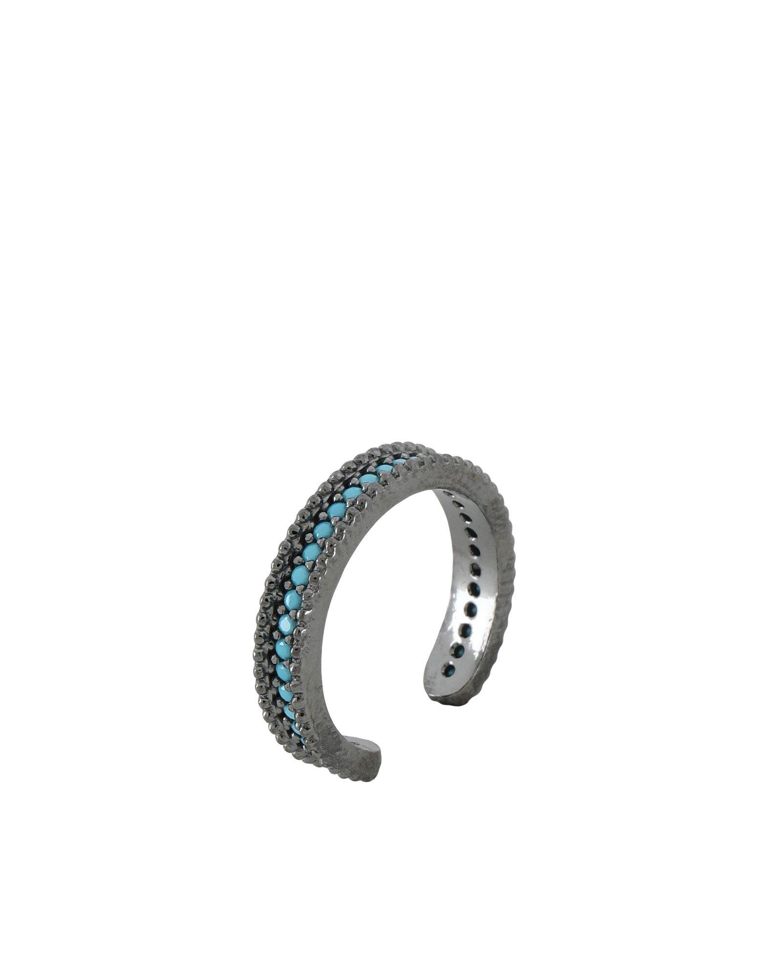 《セール開催中》FIRST PEOPLE FIRST レディース 指輪 鉛色 7 シルバー925/1000 / 18金メッキ / トルコ石 Concordia Zircon Allover Ring