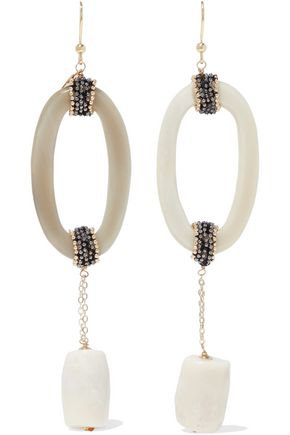 ROSANTICA Martini bead, resin and gold-tone earrings