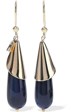 ROSANTICA Tequila gold-tone resin earrings