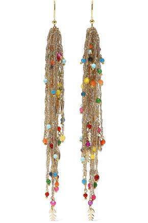 ROSANTICA Arsella gold-tone beaded earrings