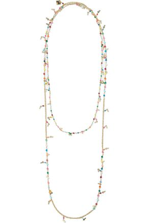 ROSANTICA Arsella gold-tone bead necklace