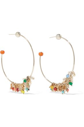 ROSANTICA Spritz gold-tone bead hoop earrings