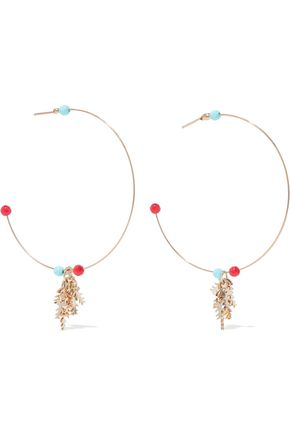 ROSANTICA Spritz gold-tone bead earrings