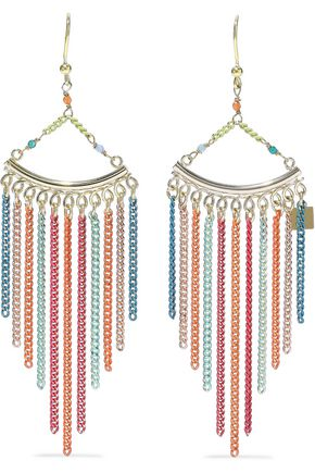ROSANTICA Cosmopolitan coated gold-tone bead earrings