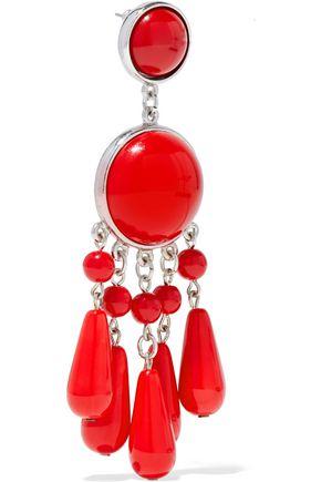BEN-AMUN Bead, resin and silver-tone earrings