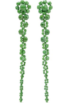 BEN-AMUN Beaded silver-tone earrings