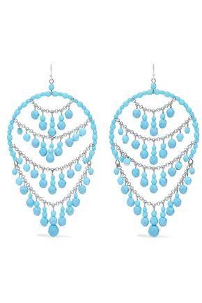 BEN-AMUN Silver-tone beaded earrings