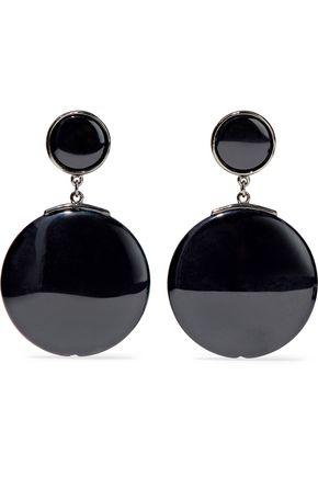 BEN-AMUN Gunmetal-tone resin earrings