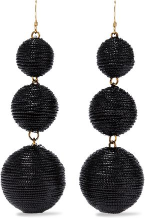 KENNETH JAY LANE Gold-tone cord earrings