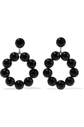 KENNETH JAY LANE Beaded gold-tone earrings