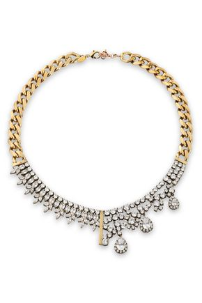 IOSSELLIANI Gold-tone crystal necklace