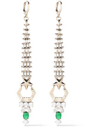 IOSSELLIANI Gold-tone crystal earrings
