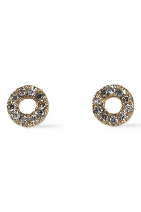 CAROLINA BUCCI 18-karat gold stone earrings