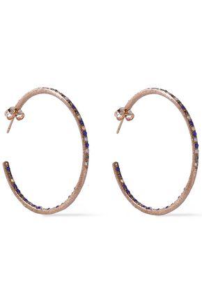 CAROLINA BUCCI 18-karat rose gold multi-stone earrings