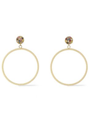 CAROLINA BUCCI 18-karat rose gold diamond hoop earrings