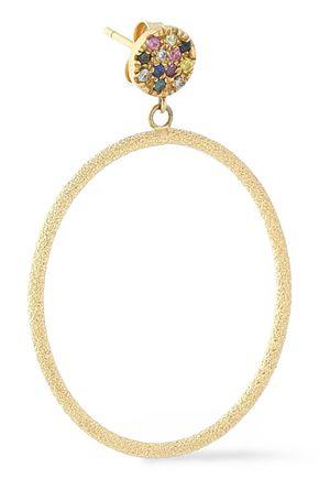 CAROLINA BUCCI 18-karat rose gold diamond hoop earrings