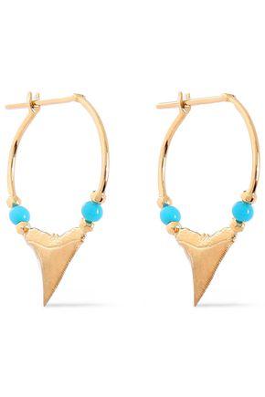 AURÉLIE BIDERMANN 18-karat gold turquoise earrings