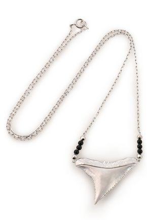 AURÉLIE BIDERMANN 18-karat white gold and onyx necklace