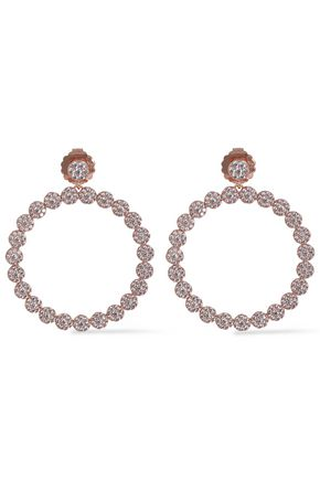 CZ by KENNETH JAY LANE Rose gold-tone crystal hoop earrings