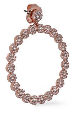 CZ by KENNETH JAY LANE Rose gold-tone crystal hoop earrings