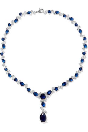 CZ by KENNETH JAY LANE Silver-tone crystal necklace