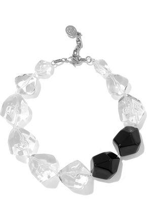 BEN-AMUN Silver-tone resin necklace