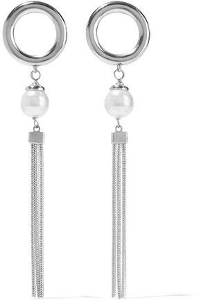 BEN-AMUN Silver-tone faux pearl earrings