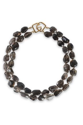 KENNETH JAY LANE Gold-tone stone necklace