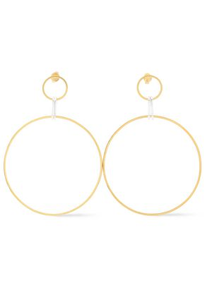 MAYA MAGAL  London 18-karat gold vermeil and sterling silver hoop earrings