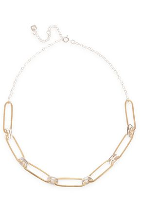 MAYA MAGAL  London Sterling silver and 18-karat gold vermeil necklace