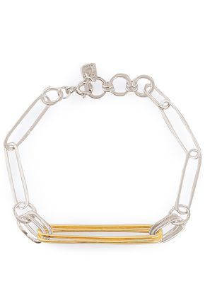MAYA MAGAL  London Sterling silver and 18-karat gold-plated bracelet