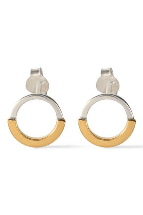 MAYA MAGAL  London Sterling silver and 18-karat gold-plated earrings