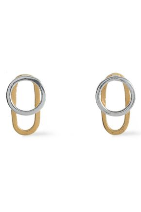 Sterling Silver And 18 Karat Gold Vermeil Earrings by Maya Magal  London