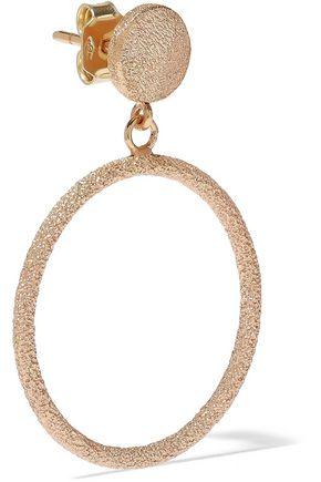 CAROLINA BUCCI 18-karat rose gold hoop earrings