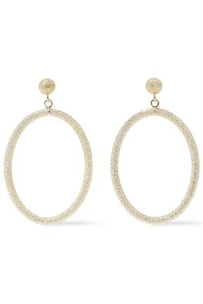 CAROLINA BUCCI Gypsy 18-karat gold hoop earrings