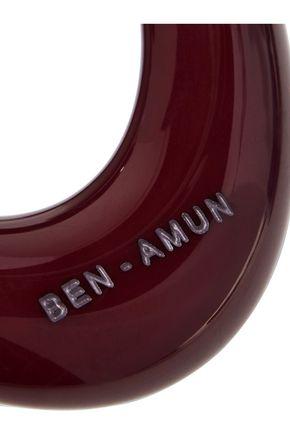 BEN-AMUN Resin silver-tone hoop earrings