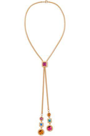 BEN-AMUN Gold-tone crystal necklace