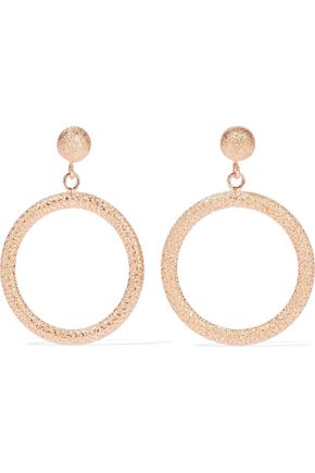 CAROLINA BUCCI Gypsy small 18-karat rose gold hoop earrings