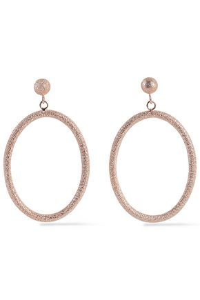 CAROLINA BUCCI Gypsy large 18-karat rose gold hoop earrings