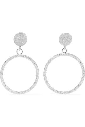CAROLINA BUCCI 18-karat white gold hoop earrings